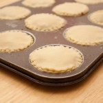 Mince pies with lids added