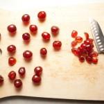 Quartering cherries