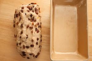 Dough and tin