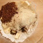 Chocolate and Almond Sponge Cake ingredients
