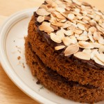Simple Chocolate and Almond Sponge Cake