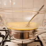 Making the home-made lemon curd