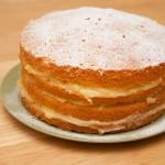 Home-made Lemon Curd Cake