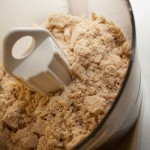 Honey, Lemon, and Spice Cake mixture after blending in the fat