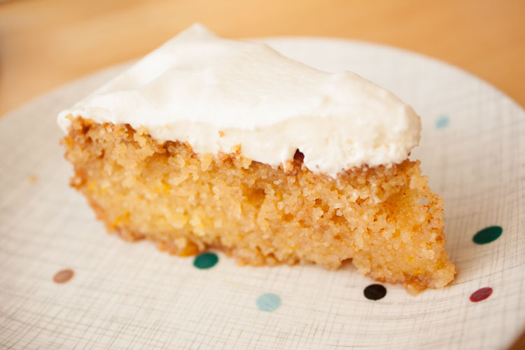 Slice of Moist Orange Cake