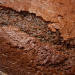 Close-up of top of the cooked Jamaica Ginger Cake.