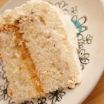 Slice of Lemon Gateau Sponge Cake