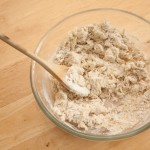 Bread dough after mixing