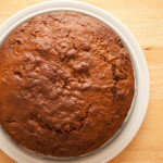Date and Walnut Cake ready for icing to be added.