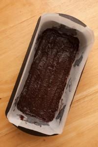 Base layer of chocolate mix