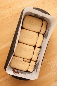 2nd layer of biscuits
